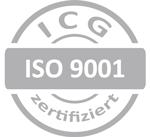 ISO 9001 ICG Zertifikat