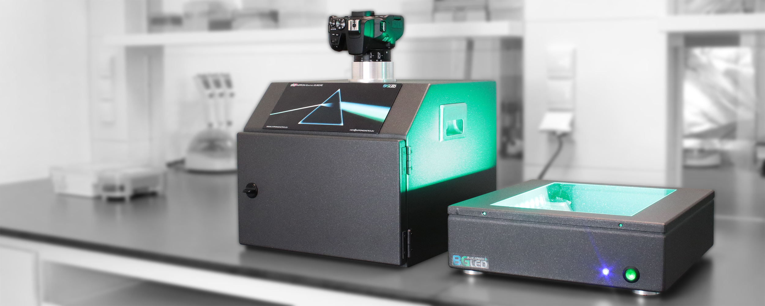 FastGene FAS-DIGI-Compact dark box and transilluminator